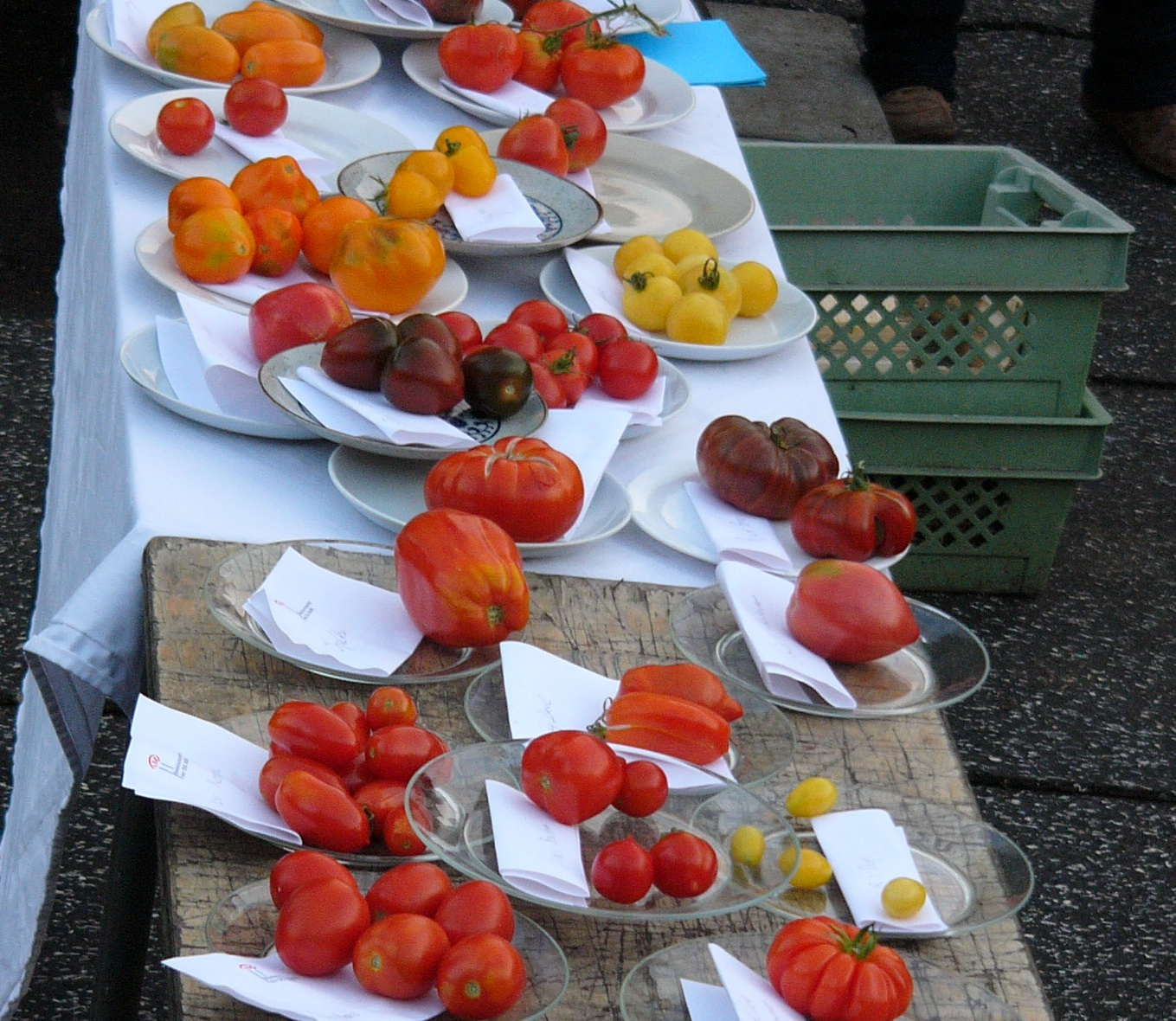 Tomatenverköstigung auf dem Gartendeck